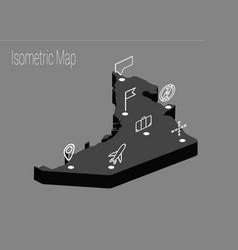 Map united arab emirates isometric concept vector