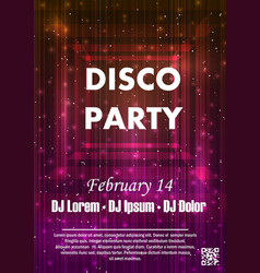 Night dance party music night poster template vector