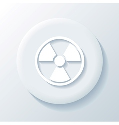 Nuclear 3D Paper Icon vector image vector image