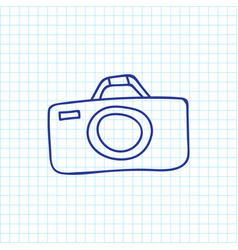 of camping symbol on camera vector image