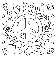 Pacific coloring page vector