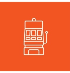 Slot machine line icon vector image