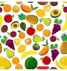 Sweet and fresh fruits seamless pattern background vector