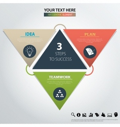 Three steps to success design element vector image vector image