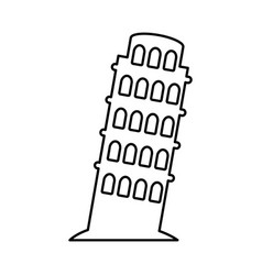 Tower of pisa icon vector