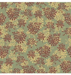 Flower pattern green vector