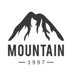Mountain icon badge vector image