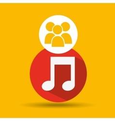 social media group music design vector image