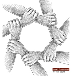 Hands drawing concept vector