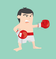 Boxing male cartoon character vector