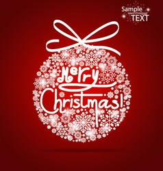 Christmas background with Merry Christmas tree vector image