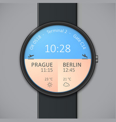 Smartwatch mockup - weather vector image