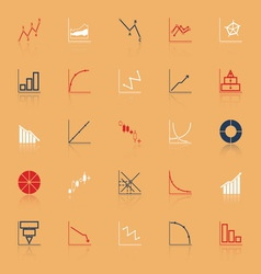 Economic and investment diagram line icon with vector
