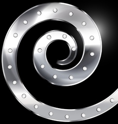 Abstract metal spiral vector