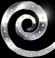 abstract metal spiral vector image