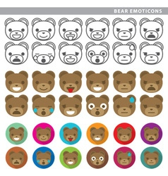 Bear emoticons vector