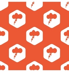 Orange hexagon thunderstorm pattern vector