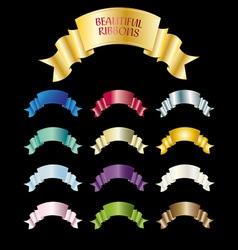 beautiful ribbons vector image