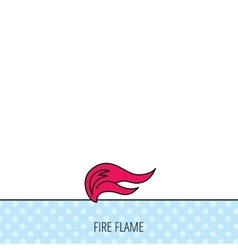 Fire flames icon blazing bonfire sign vector