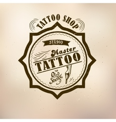 Retro style tattoo master vector