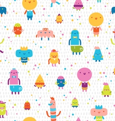 Abstract characters seamless pattern vector