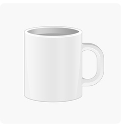 Pattern white cup vector