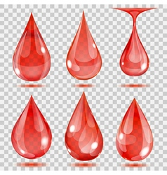 Set of transparent drops vector