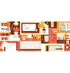 Abstract workspace design flat vector