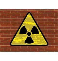 radioactivity trefoil sign vector image