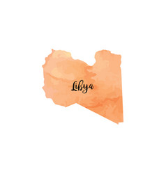 abstract libya map vector image vector image