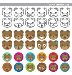 bear emoticons vector image vector image