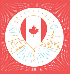 Concept of traveling to canada vector