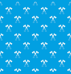 Crossed axes pattern seamless blue vector