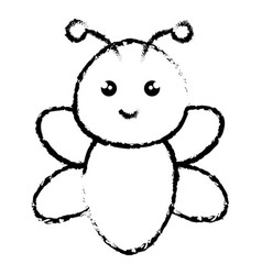 Cute and tender bee kawaii style vector