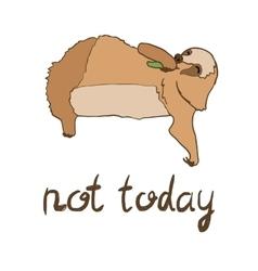 cute eating sloth vector image