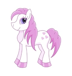 Cute horse romantic pony vector
