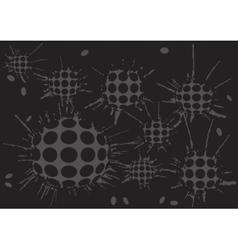 Duoton background blot grey balls vector
