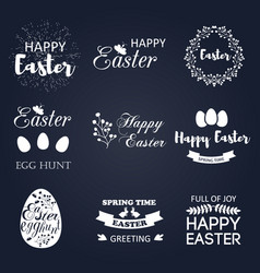 easter logo spring wishes overlays vector image