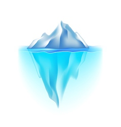 Iceberg isolated on white vector
