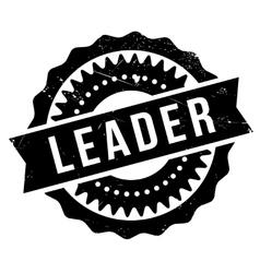 Leader stamp rubber grunge vector