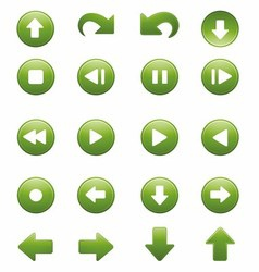 Media player remote control button icon set vector