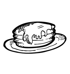 pancake doodle vector image vector image