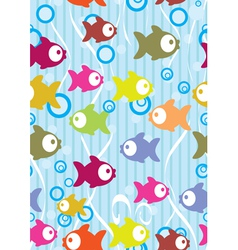 Seamless fish background vector