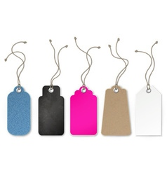 Set of price and sale tags for store vector image vector image