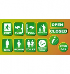 signs set vector image vector image