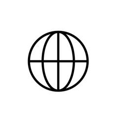 thin line globe icon vector image vector image
