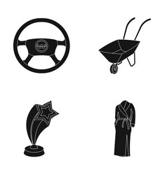 transport education and or web icon in black vector image