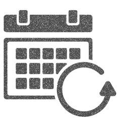 Update calendar grainy texture icon vector
