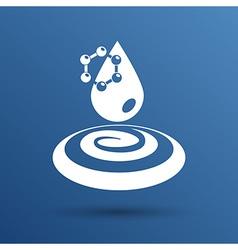 water molecule water chemistry atom symbol icon vector image vector image