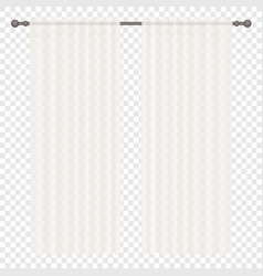 White simple Curtains Isolated on vector image